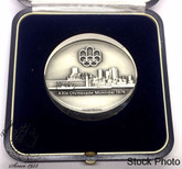 Canada: 1976 Montreal Olympic Official Sterling Silver Medal 50mm