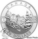 Canada: 2014 $10 Skiing Canada's Slopes Silver Coin