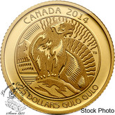 Canada: 2014 $25 Wolverine 1/4 oz Gold Coin