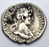 Roman Imperial: Hadrian, AD 117-138 Eaternatus Holding Sun & Moon