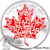Canada: 2017 $50 Canadian Icons 5 oz. Fine Silver Coin