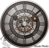 Canada: 2017 $50 Peace Tower Clock 90th Anniversary 5 oz. Pure Silver Coin