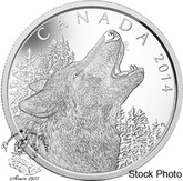 Canada: 2014 $125 Howling Wolf 1/2 Kilogram Silver Coin