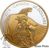 Canada: 2014 $20 Nanaboozhoo and the Thunderbird Gold Plated Silver Coin