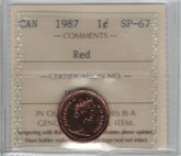 Canada: 1987 1 Cent ICCS SP67 Red