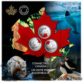 Canada: 2020 25 Cent Connecting Canada 3 Coin Set
