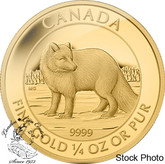 Canada: 2014 $10 Arctic Fox Proof Gold Coin