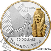 Canada: 2014 $20 100th Anniversary of the Royal Ontario Museum Gold Plated Silver Coin