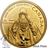 Canada: 2014 $25 Pope John Paul II Pure Gold Coin