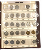 Canada: 1922-1990 Collection of 5 Cent Nickels in Uni-Safe Book  (70 Pieces)