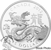 Canada: 2012 $15 Year of the Dragon Silver Coin