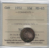 Canada: 1952 10 Cents ICCS MS65