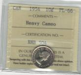 Canada: 1954 10 Cents Heavy Cameo ICCS PL66