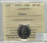 Canada: 1973 10 Cents Cameo ICCS SP67