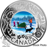Canada: 2019 $3 Celebrating Canadian Fun and Festivities: Christmas Tree Pure Silver Coin