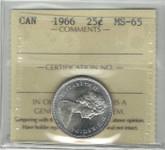 Canada: 1966 25 Cent ICCS MS65 Lot#3