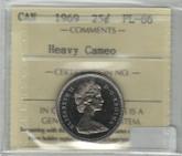 Canada: 1969 25 Cent Heavy Cameo ICCS PL66
