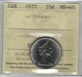 Canada: 1977 25 Cent ICCS MS65