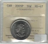 Canada: 2005P 50 Cent ICCS MS67