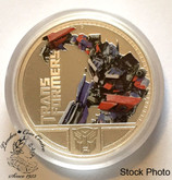Tuvalu: 2009 $1 Transformers - Optimus Prime 1 oz. Pure Silver Coloured Coin
