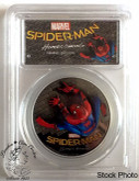 Cook Islands: 2017 $5 Spiderman Homecoming 1 oz. Pure Silver Coin PCGS PR70DCAM