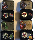 Niue: 2014 $2 Avengers 1 oz. Pure Silver Coloured 4 Coin Set in Lunchbox