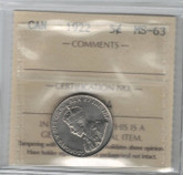 Canada: 1922 5 Cents ICCS MS63