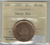 Canada: 2005 $1 Terry Fox ICCS MS66