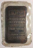 Vintage 1 oz Johnson Matthey TD Bank Silver Collectable Bar