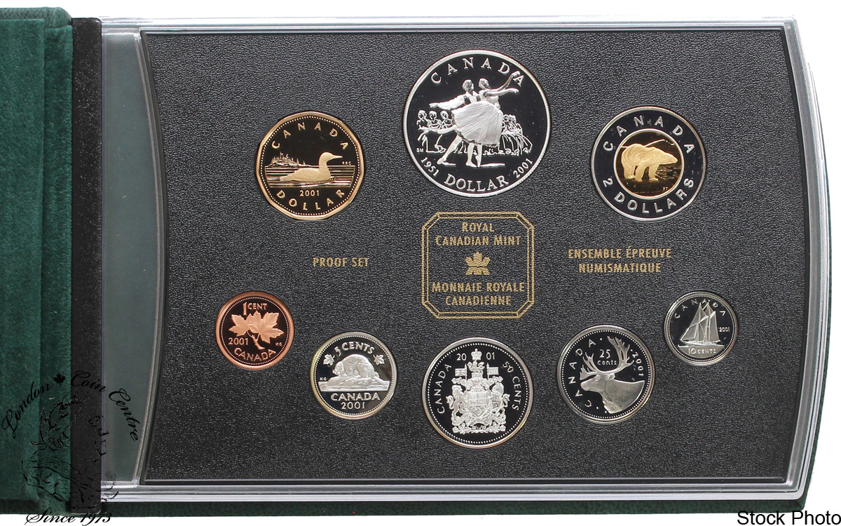 2001 Canada Proof Double Dollar Set National Ballet of Canada