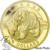 Canada: 2014 $5 Grizzly Bear Pure Gold Coin