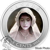 Canada: 2014 25 Cents Haunted Canada Ghost Bride Coin