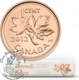 Canada: 2012 1 Penny / Cent Roll in Original RCM Special Wrap