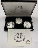United States: 2006 20th Anniversary 1 Ounce Silver American Eagle 3 Coin Set
