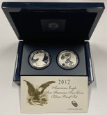 United States: 2012-S 1 Ounce Silver American Eagle 2 Coin Set