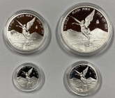 Mexico: 2018 Libertad Pure Silver Fractional 4 Coin Set in Capsules Only