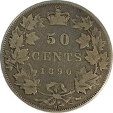 Canada: 1890H 50 Cents VG8