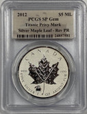 Canada: 2012 $5 Silver Maple Leaf with Titanic Privy Coin PCGS SP Gem