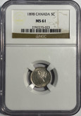 Canada: 1898 5 Cent NGC MS61