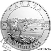 Canada: 2014 $10 The Canadian Cowboy Silver Coin