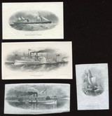 British American Banknote Co. Four Different Ship Die Proof Vignettes