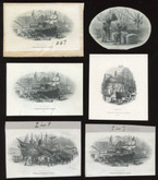 "British American Banknote Co. Six Different ""Dock Scenes"" Die Proof Vignettes"