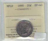 Canada: Newfoundland: 1890 20 Cent ICCS EF40