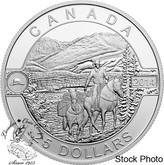 Canada: 2014 $25 Cowboy in the Canadian Rockies Silver Coin
