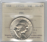 United States: 1952D 50 Cent FBL ICCS MS65