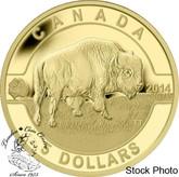 Canada: 2014 $5 O Canada - Bison Gold Coin