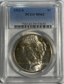United States: 1923S Peace Dollar PCGS MS62