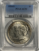 United States: 1924S Peace Dollar PCGS AU53
