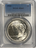 United States: 1924 Peace Dollar PCGS MS65