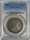 United States: 1826 50 Cent PCGS XF40